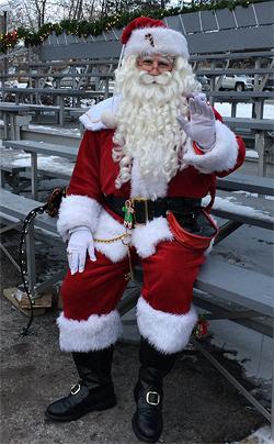 Christmas Festival Of Ice.On The Set Of Christmas Of Ice Santa Ottawa