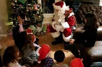 Santa listening to questions