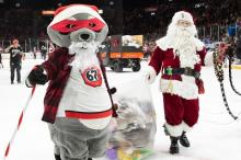 Santa at the 67s Teddy Bear Game
