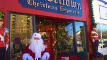 Santa at Tinseltown Emporium - Exterior