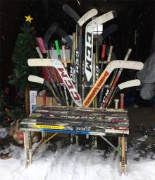 Santa Claus' Hockey Chair for the NHL Classic 100 Santa Village