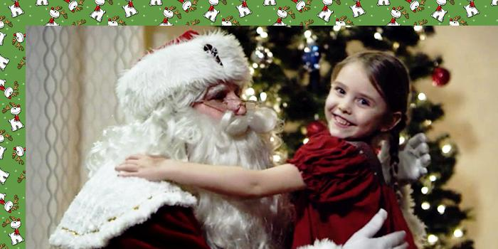 Santa and a little lady