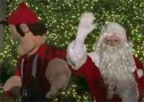Big Joe and Santa at Lansdowne