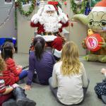 Santa meeting friends at DND