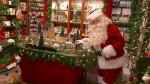Santa playing with toy train
