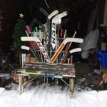 Santa's hockey stick chair